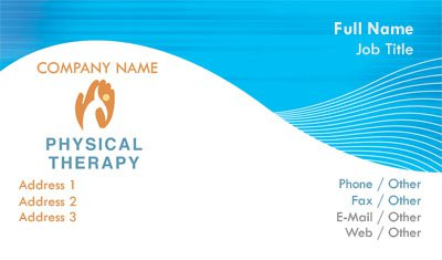 Blue and White Physical Therapy Business Card Template